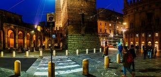 Аркада di Porta Ravegnana в болонья, Италии Стоковое фото RF