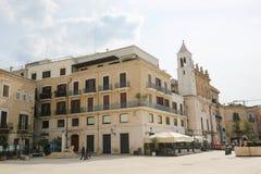 Аркада Ferrarese в центре Бари, Италии Стоковое Изображение