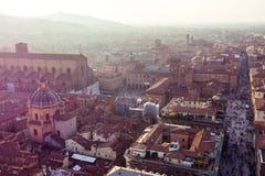 Аркада Maggiore от башни Asinelli в болонья Стоковые Фотографии RF