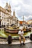 Аркада Navona в Риме (Италия) стоковое фото