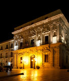 Аркада Ortigia собора, Сицилия Стоковые Фотографии RF