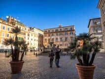 Аркада Santa Maria в Trastevere стоковое фото