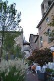 Аркада Vecchia городской площади в Бергаме Стоковые Изображения RF