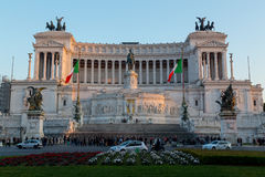 Аркада Venezia и памятник Vittoriano Emanuele Стоковое Фото