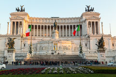 Аркада Venezia и памятник Vittoriano Emanuele Стоковые Фотографии RF