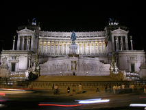 Аркада Venezia на ноче, Риме Стоковое Изображение