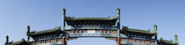арка украшенное Пекин qianmen Стоковое Изображение