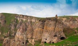 Армении день ландшафта горы Khndzoresk Стоковые Изображения RF