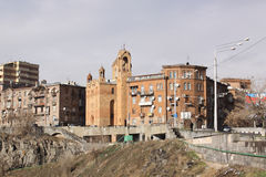 Армении yerevan Veiw улиц Стоковая Фотография