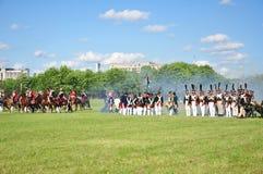 армии сражают французский русского Стоковые Изображения