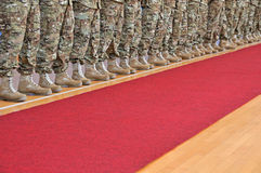 Армия в строке Стоковое Изображение RF