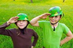 Армия детей Стоковая Фотография RF