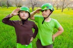 Армия детей Стоковое Изображение