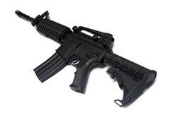 армия принуждает экстренныйый выпуск винтовки m4a1 мы оружие Стоковая Фотография