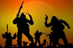 Армия солдат вектора Стоковые Изображения RF