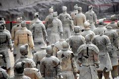 Армия терракотовых воинов и лошадей, Xian, Китая стоковые изображения