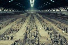 Армия терракоты, яма одно Стоковое фото RF