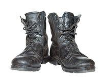 армия boots старая Стоковое Фото