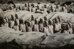 Армия Terracota первого императора Китая стоковая фотография rf