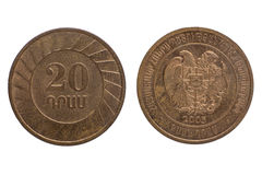 Армянка 20 драхм Стоковая Фотография RF