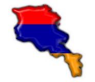 армянская форма карты флага кнопки Стоковые Изображения RF