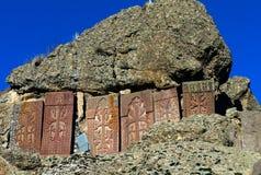 Армянские средневековые перекрестные камни стоковое фото rf