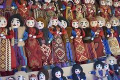 Армянские handmade куклы в фольклорных костюмах Стоковое Фото