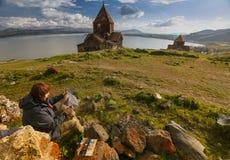 армянский скит стоковые фото