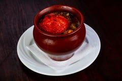 Армянский суп Khashlama Стоковое фото RF