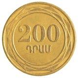 200 армянских долларов монетки стоковые фото