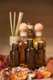 ароматичные бутылки смазывают спу Стоковое Изображение RF