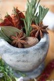 ароматичные специи трав стоковые изображения rf