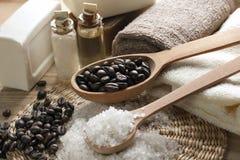 Ароматичный комплект кофе спы Стоковые Изображения