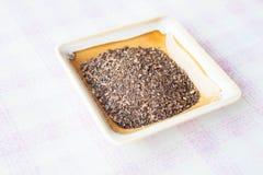 Ароматичный тайский чай в мини блюде Стоковое фото RF