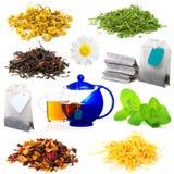 ароматичный чай комплекта стоковые изображения rf