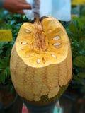 Ароматность большого желтого джекфрута очень вкусная стоковые изображения rf