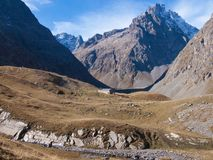 Арсин ` Col d, могила Ла, alpes hautes, ФРАНЦИЯ стоковое изображение