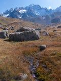 Арсин ` Col d, могила Ла, alpes hautes, ФРАНЦИЯ стоковые изображения rf