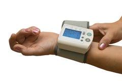 Артериальный измерять кровяного давления стоковые изображения rf