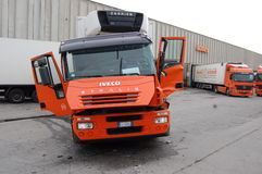 Артикулированный грузовик стоковое фото rf
