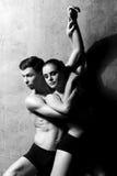 Артисти балета в представлении искусства Стоковое Фото