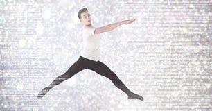 Артист балета с цифровыми sparkles Стоковое Фото