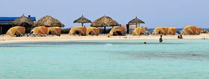 Аруба, пляж младенца, на карибском море Стоковые Фото
