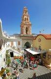 Архангел Майкл Родоса Symi монастыря Panormitis стоковые фотографии rf