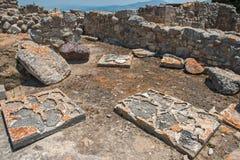 Археологические раскопки дворца Phaistos на Крите Стоковые Изображения