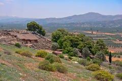 Археологические раскопки дворца Phaistos на Крите Стоковое Изображение RF