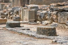 Археологические раскопки дворца Phaistos на Крите Стоковое фото RF