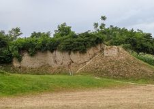 Археологические раскопки цивилизации барвинка, Belo Brdo Wh стоковые изображения
