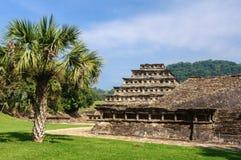 Археологические раскопки El Tajin, Веракрус, Мексики Стоковая Фотография RF