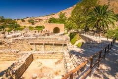 Археологические раскопки Gortyn на острове Крита, Греции стоковое фото